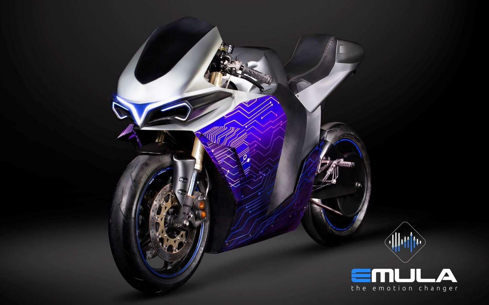 La moto électrique Emula de 2electron est un concept qui n'a pas vocation à être commercialisé. © 2electron