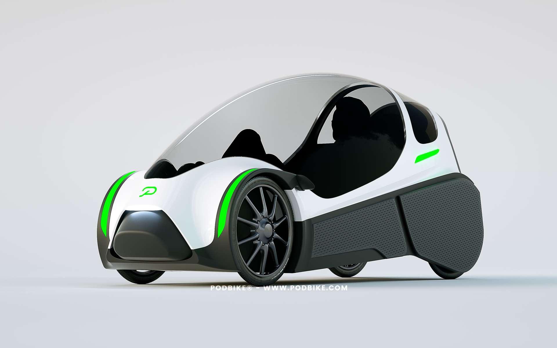 Le Podbike créé par la société norvégienne Elpedal est équipé de moteurs électriques logés dans les roues arrière. © Elpedal