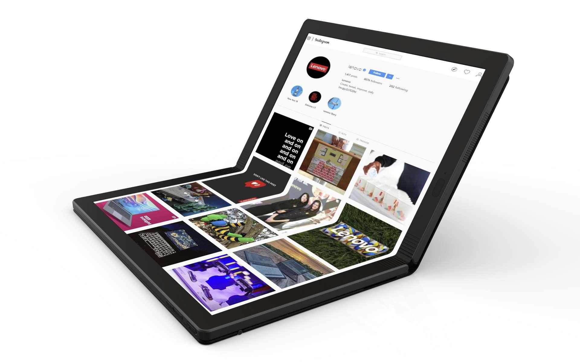 Le premier PC portable à écran pliable arrive en 2020. © Lenovo