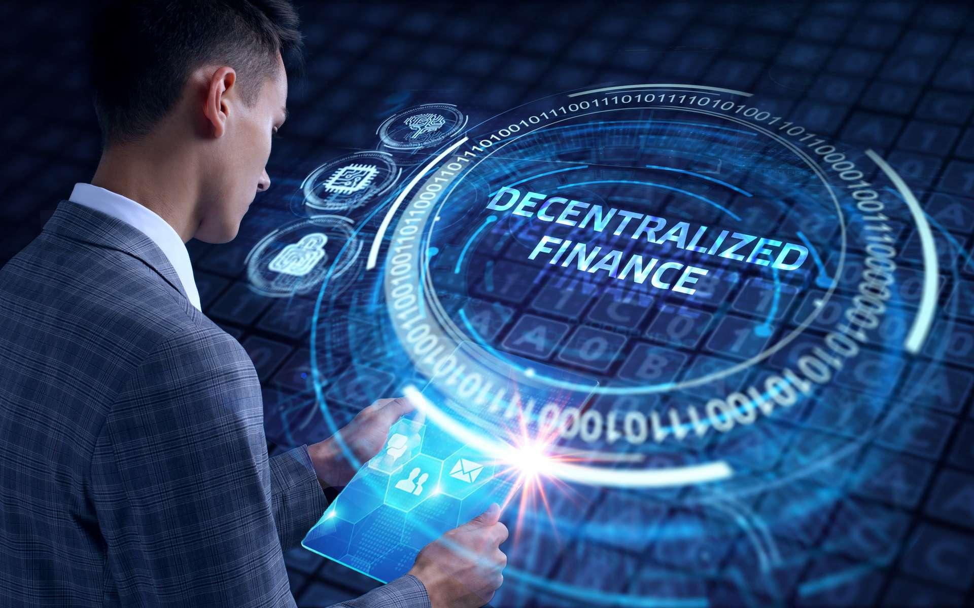 DeFi, ou finance décentralisée, est l'acronyme de Decentralized Finance, en anglais. © Photon_photo, Adobe Stock