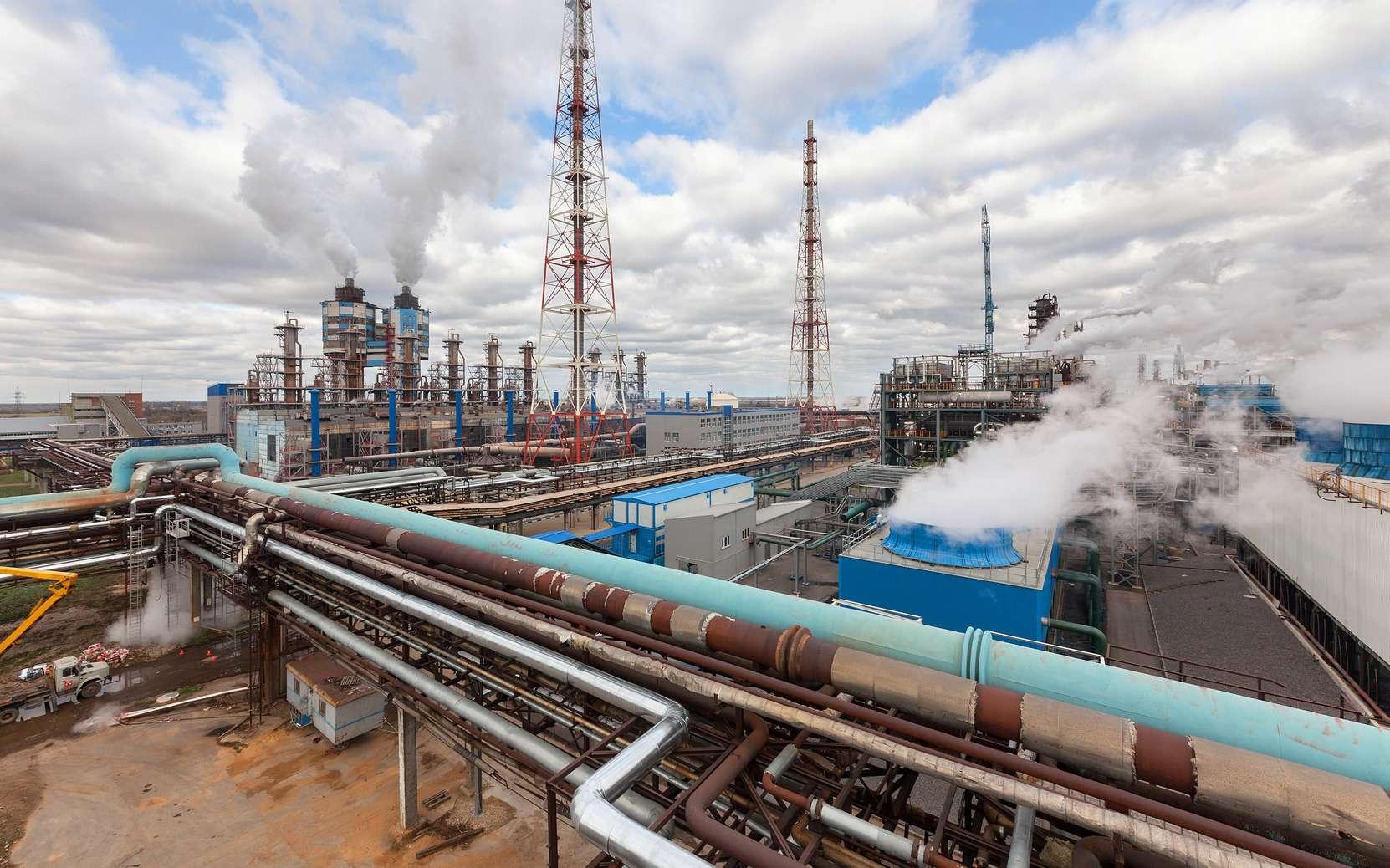 Une usine de production d'ammoniac. © Всеволод Чуванов, Fotolia
