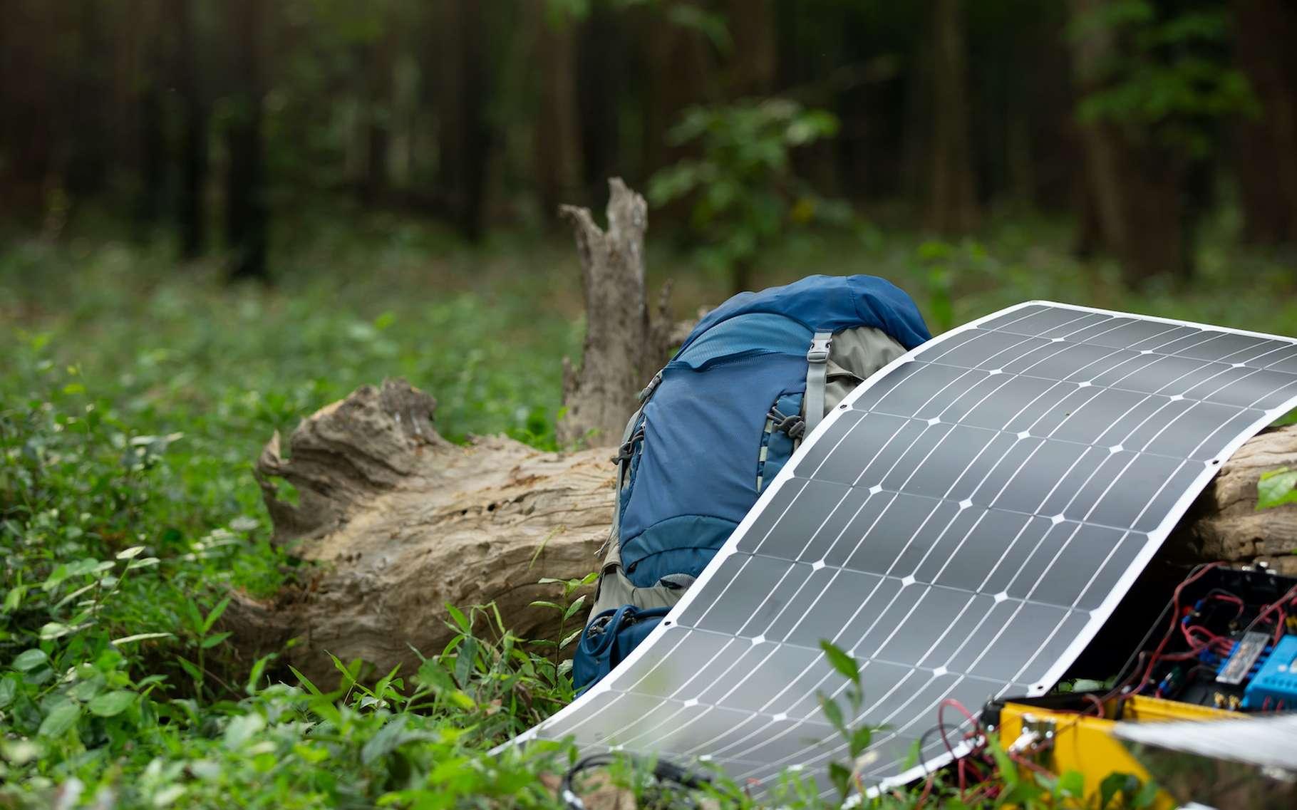 Le photovoltaïque organique permet d'envisager le développement de cellules solaires flexibles et à bas coût telles que celle figurée ici en illustration. © pentium5, Adobe Stock