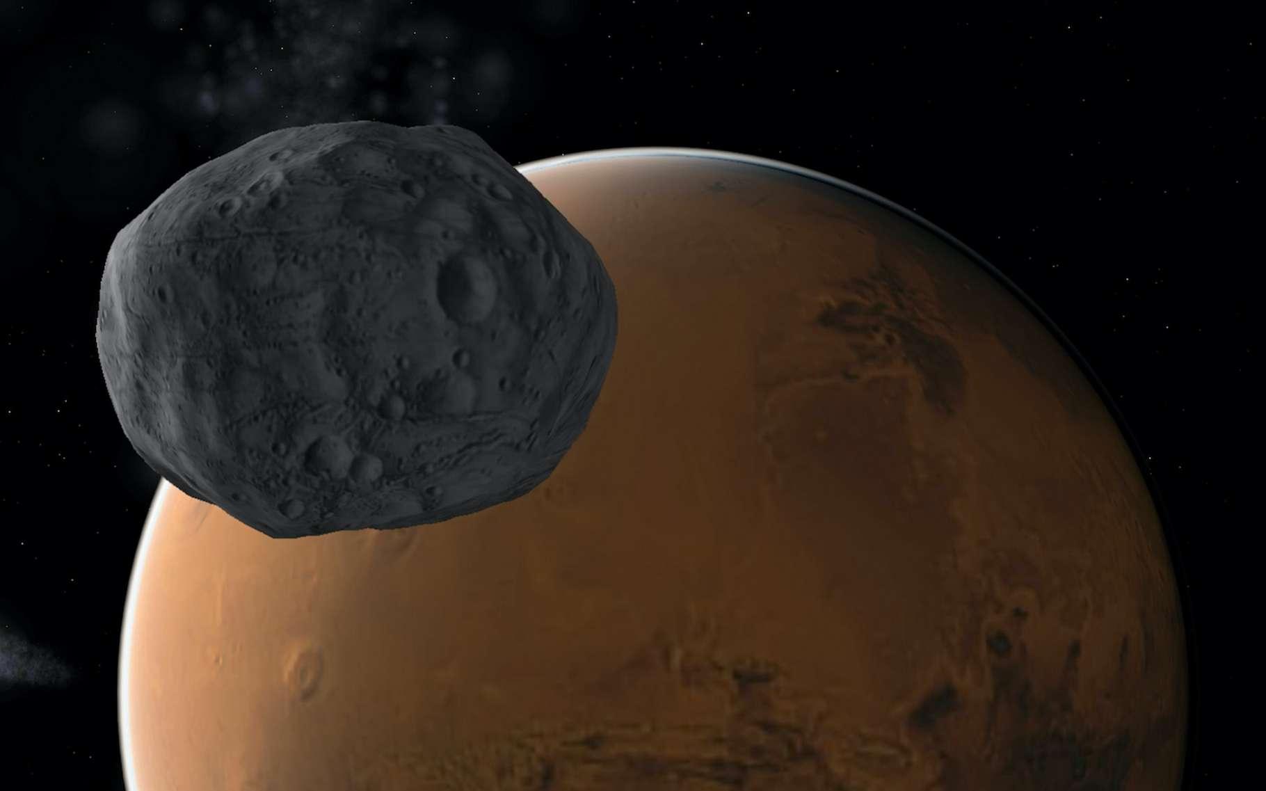 Mars et Phobos. © NJ, Adobe Stock
