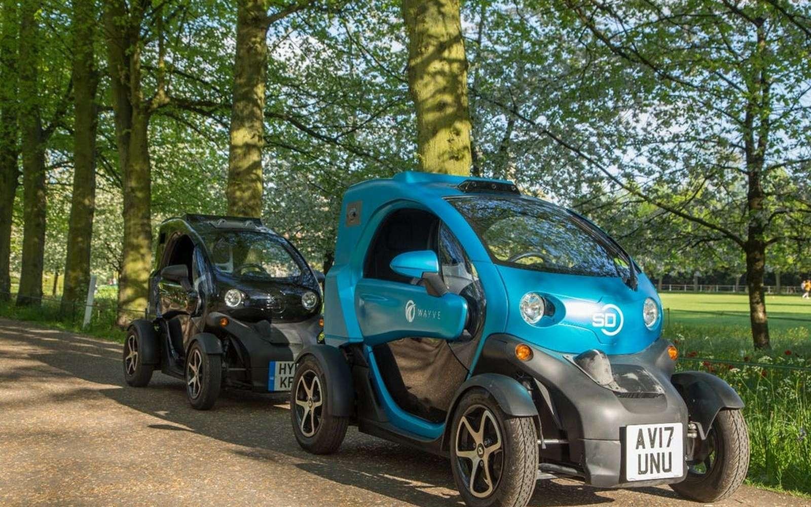 Wayve a utilisé une voiture électrique Renault Twizy pour son expérimentation. © Wayve