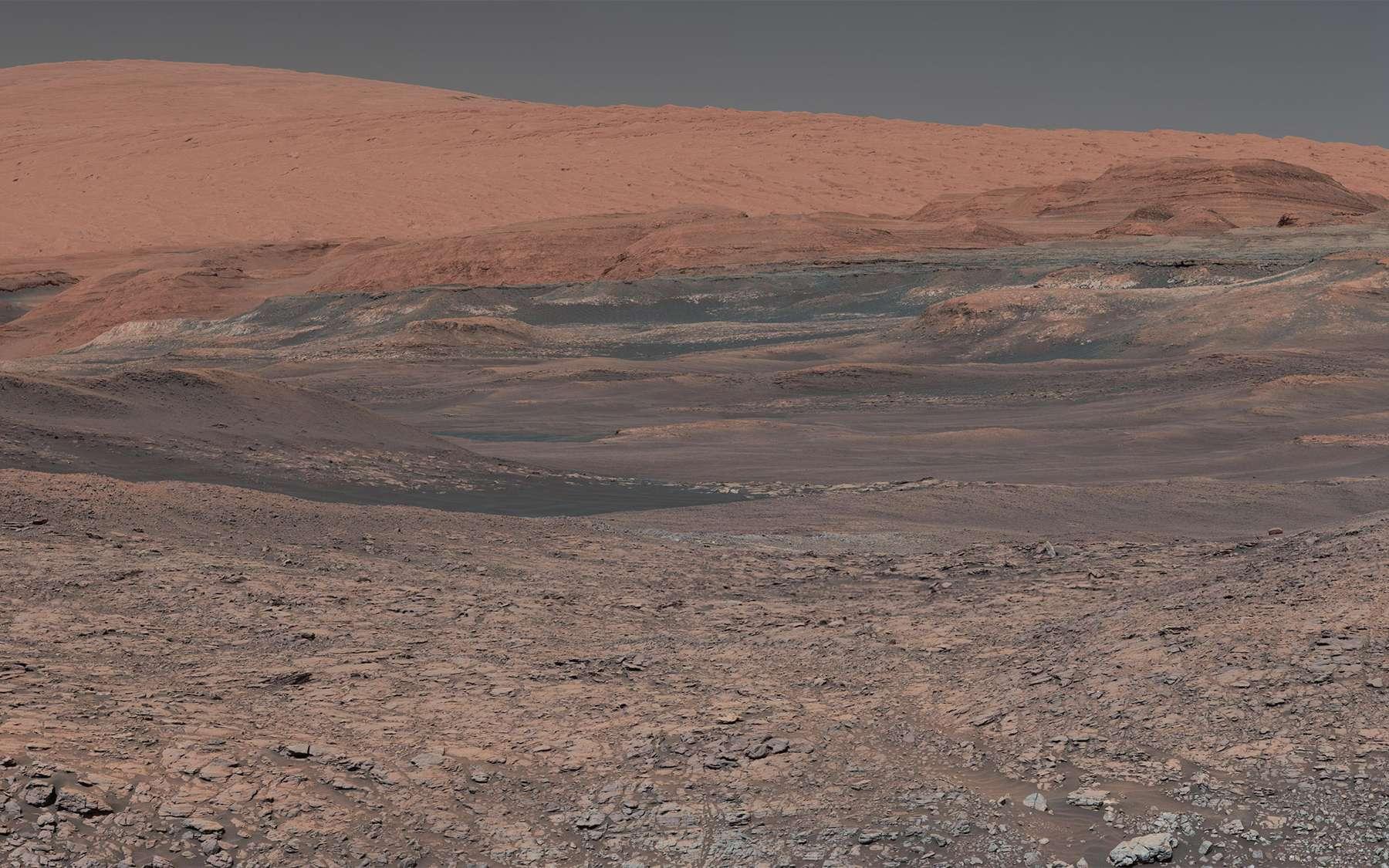 Le mont Sharp photographié par Curiosity. © Nasa, JPL-Caltech, MSSS