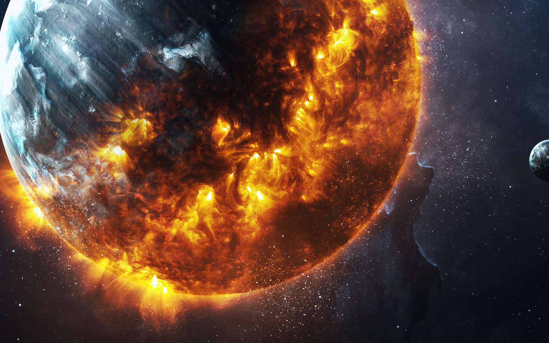 L'horloge de l'apocalypse affiche désormais « 100 secondes seulement avant minuit ». La fin du monde se rapproche. Mais nous pouvons encore changer notre destin. © Vadimsadovski, Adobe Stock