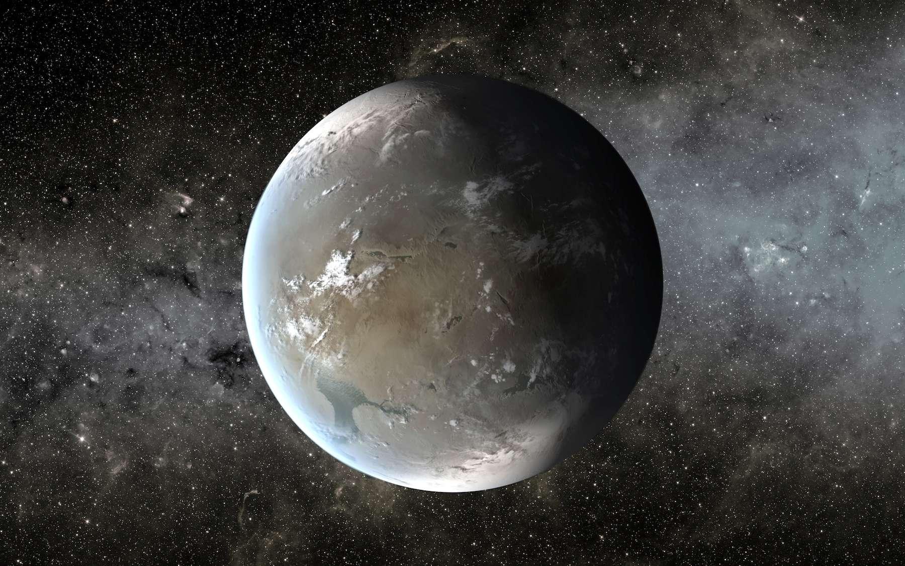 Illustration de Kepler-62f, une planète 1,4 fois plus grosse que la Terre, qui, sous certaines conditions, pourrait bien être habitable. © Nasa Ames, JPL-Caltech, T. Pyle