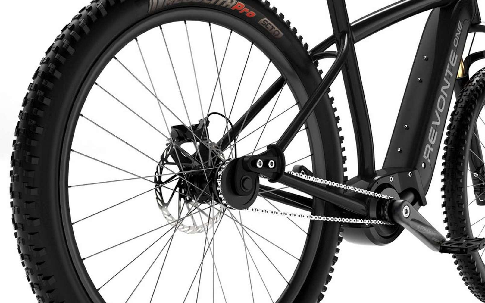 Un vélo électrique équipé du groupe motopropulseur Revonte One sans dérailleur ni cassette. © Revonte