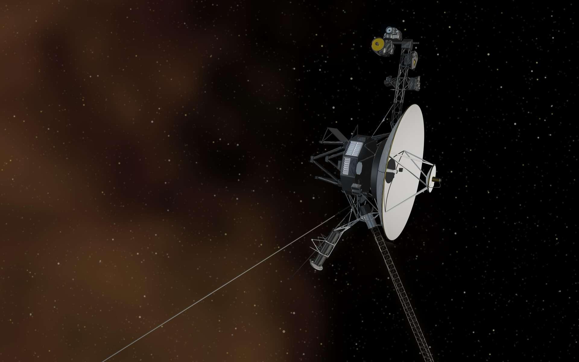 La sonde spatiale Voyager 1 aux frontières de l'héliosphère a quitté la Terre en 1977 afin d'étudier les planètes externes du Système solaire. © Nasa