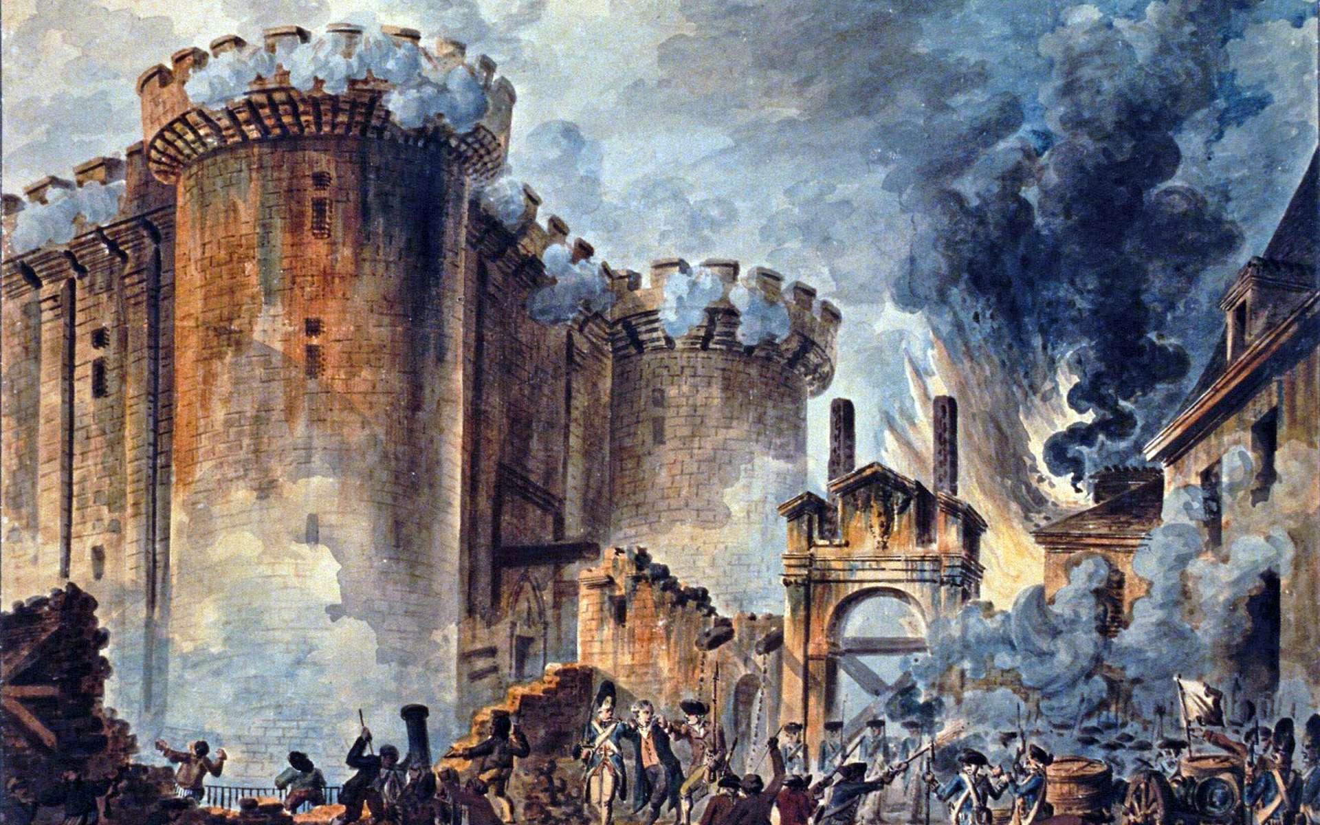La prise de la Bastille, le 14 juillet 1789, est un événement symbolique de la Révolution française. © Jean-Pierre Houël, Wikimedia Commons, DP