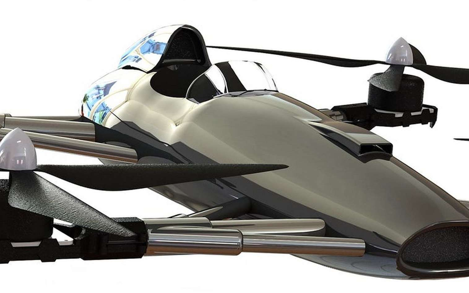Voici à quoi ressemblera la version finale de la « voiture volante » de course que veut créer Matt Pearson. © Alauda Racing