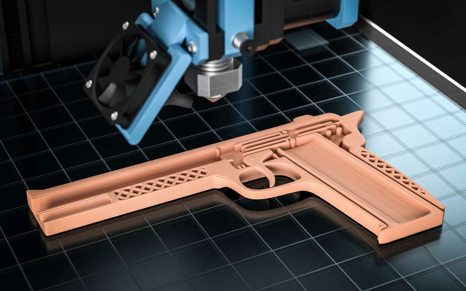 L'impression 3D d'armes à feu est actuellement au centre d'une bataille juridique aux États-Unis. © Fotomek, Fotolia