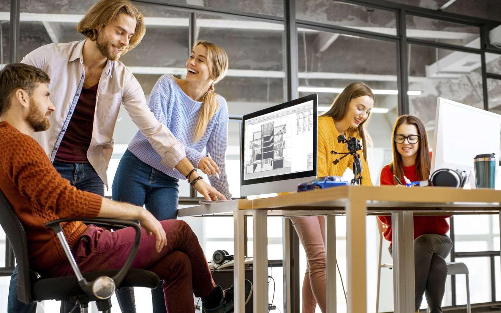 Le bureau de demain se veut adapté au fonctionnement de l'entreprise moderne. © rh2010, Fotolia