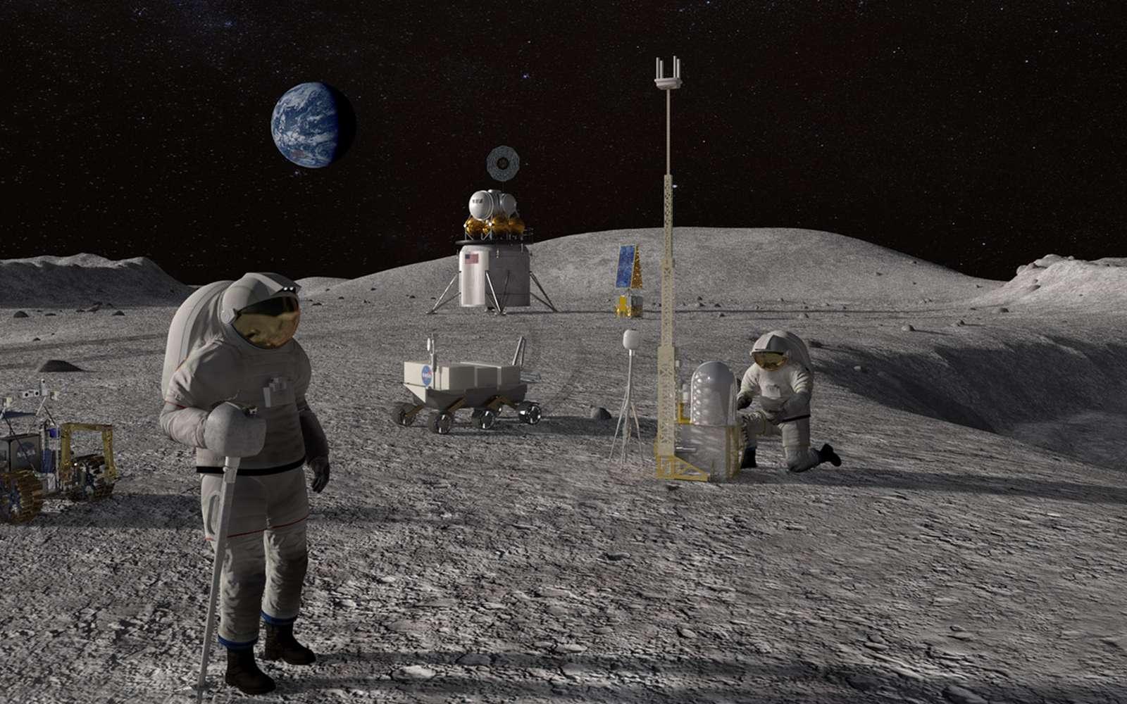 Neil Armstrong a été le premier homme à marcher sur la Lune. Qui sera la première femme ? La Nasa se réserve le droit de choisir parmi les cinq astronautes féminines de l'équipe Artemis nouvellement nommée. © Nasa