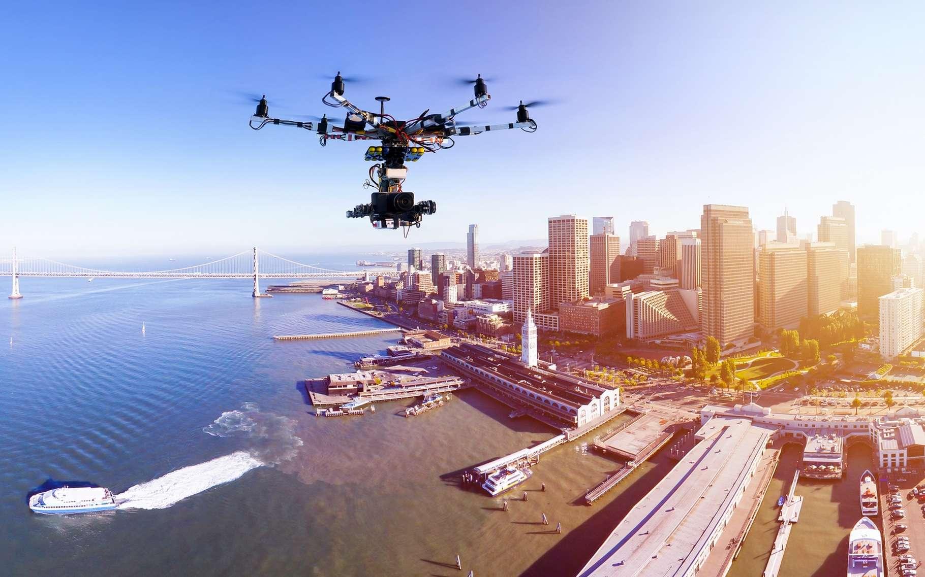 L'avènement de services commerciaux utilisant des drones est actuellement contraint par les limites de distance techniquement possibles et autorisées d'un point de vue légal. © Alexey Yuzhakov, Shutterstock