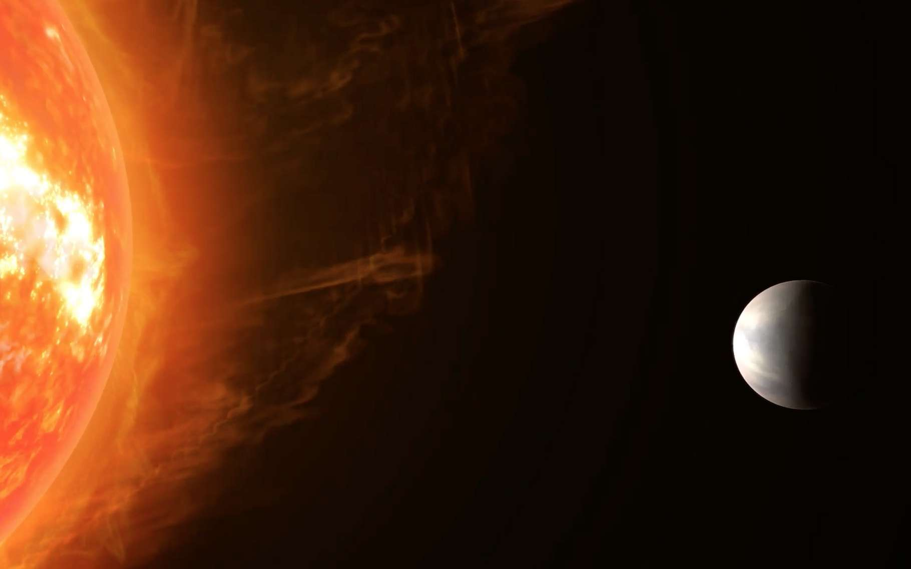 Des chercheurs ont découvert une exoplanète rocheuse dont ils espèrent bien pouvoir étudier l'atmosphère. © Max Planck Institute for Astronomy
