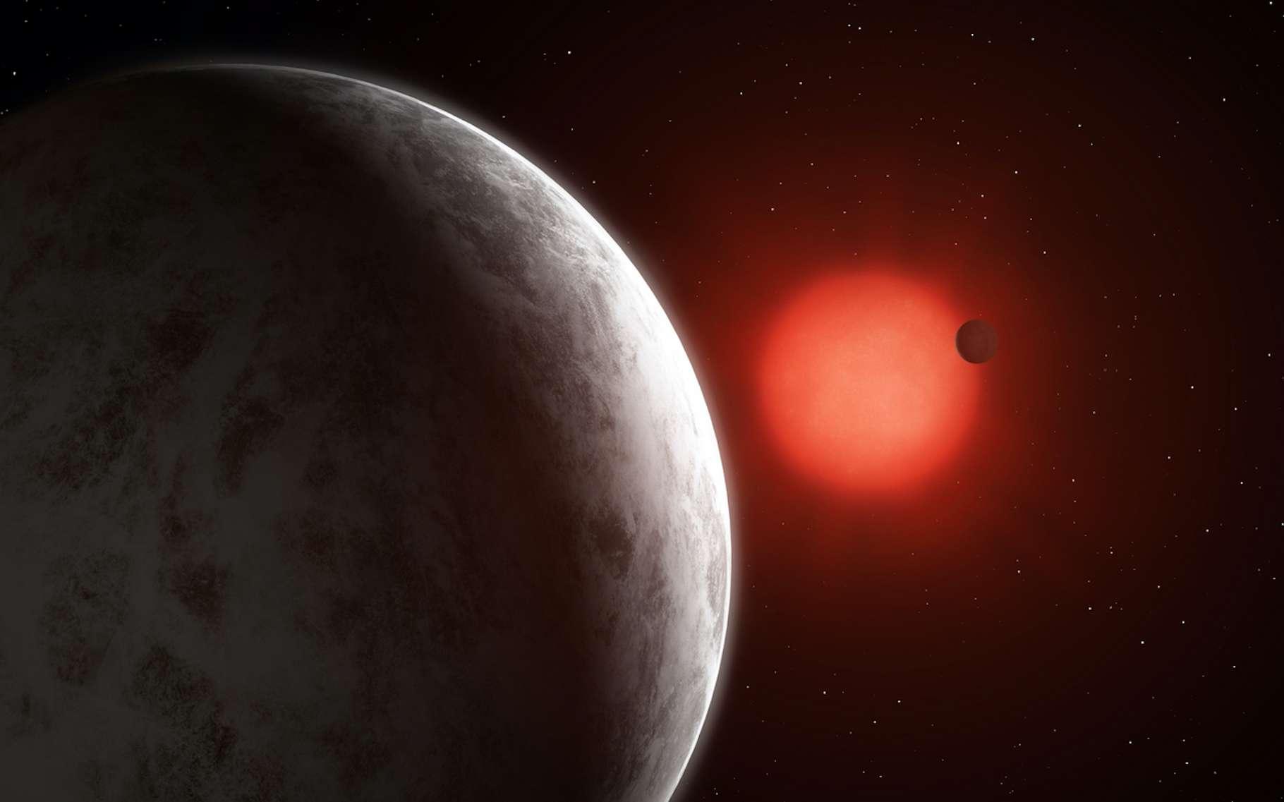 Des astronomes ont découvert deux superterres – ici, en vue d'artiste – autour d'une étoile située à seulement 11 années-lumière de notre Système solaire. © Mark Garlick, Université de Götingen