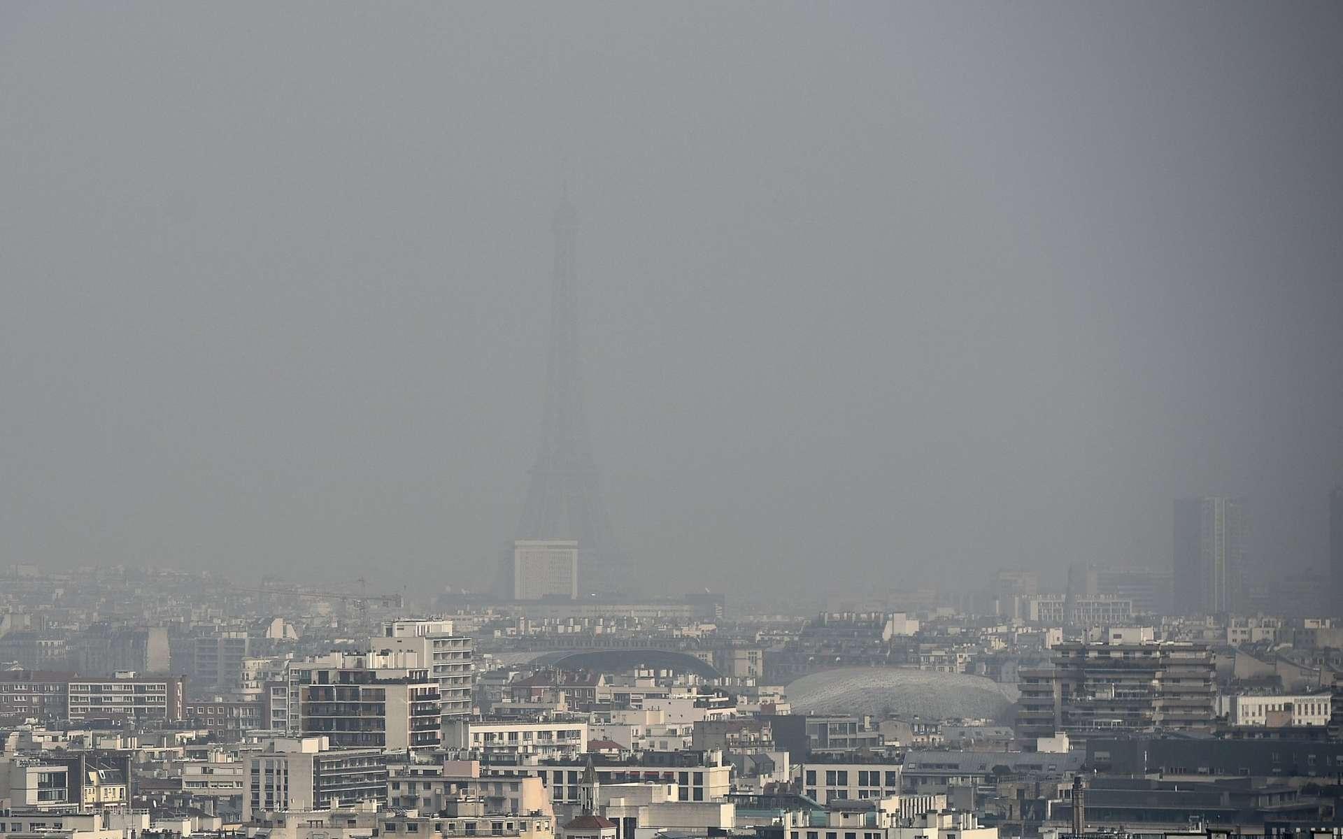 Une vue de Paris le 18 mars 2015, lors du dernier pic de pollution. © AFP Photo, Franck Fife