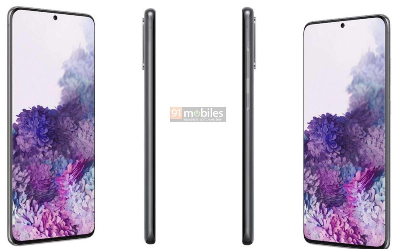 Samsung Galaxy S20, S20+ et S20 Ultra, les mobiles premium de la marque dévoilent leurs contours quelques semaines avant leur sortie. © 91Mobile