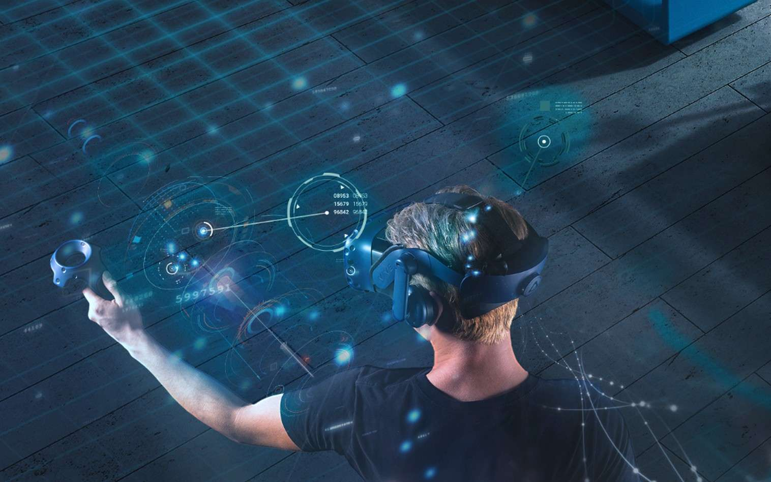 EDF a choisi le casque de réalité virtuelle HTV Vive qui est l'un des plus performants du moment. © HTC