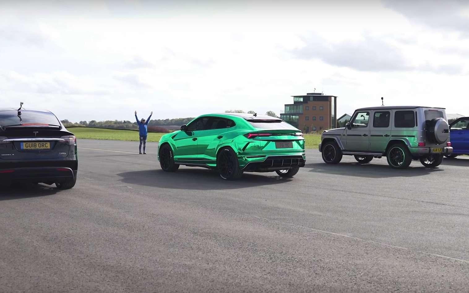 Encore un duel remporté haut la main par une Tesla face à des rivales à moteur essence. © Carnow