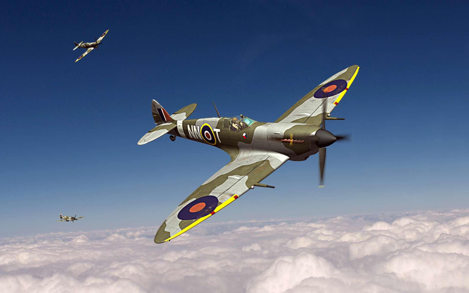 Le Supermarine Spitfire utilisé par la Royal Air Force s'est distingué durant la seconde guerre mondiale lors de la bataille d'Angleterre. © Tomaspic, Adobe Stock