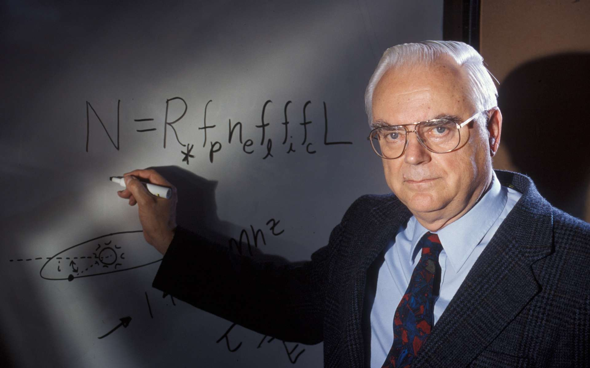 Frank Drake et son équation. © SETI Institute