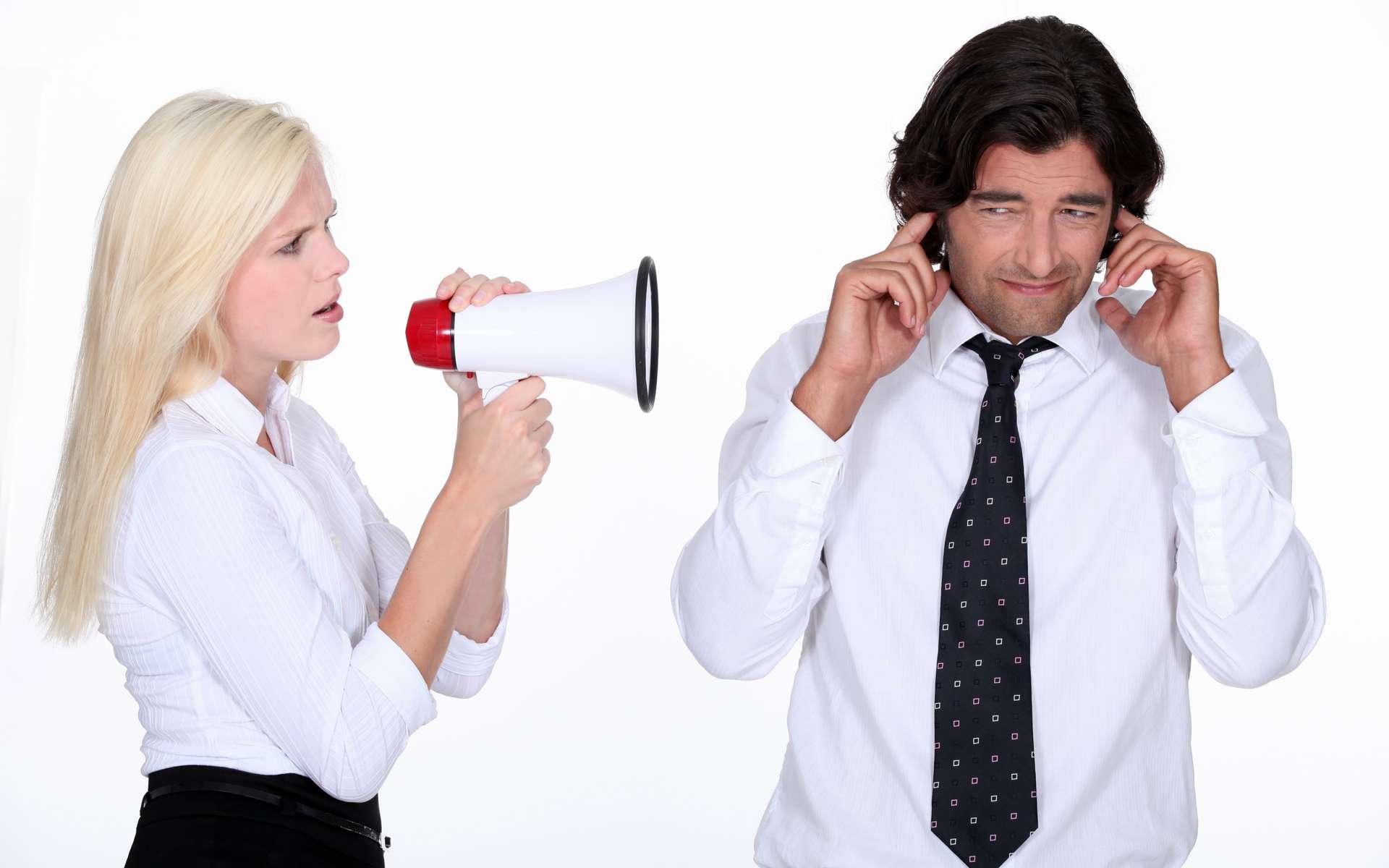 Le message auditif est analysé par les aires de l'audition et du langage, dans le cerveau. © Phovoir