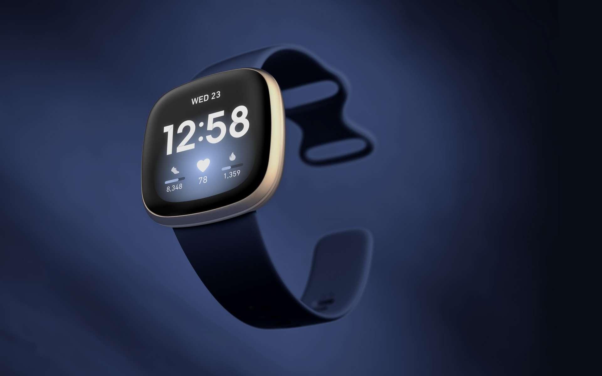 Pour environ 200 euros, cette Versa 3 est un très bon compromis entre le bracelet d'activité et une montre connectée plus évoluée. © Fitbit