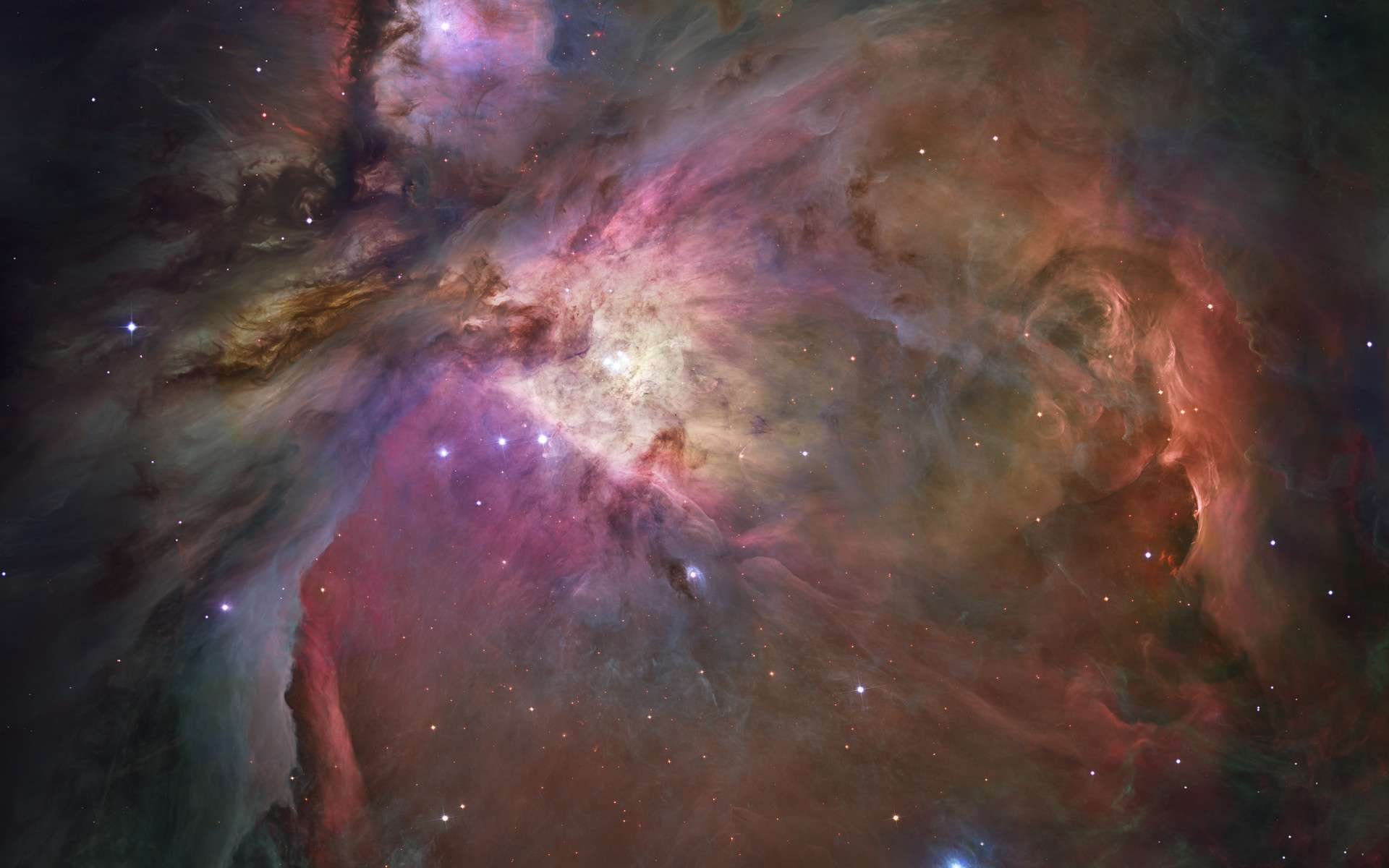 Image composite de la nébuleuse d'Orion vue par le télescope spatial Hubble. © Nasa, ESA, M. Robberto, the Hubble Space Telescope Orion Treasury Project Team