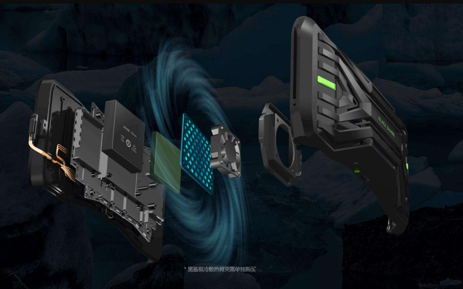 Le Black Shark 2 de Xiaomi vient sur le marché des gamers où deux principaux modèles se font leur place. Vendu à un prix accessible, c'est un monstre de puissance doté de 12 Go de mémoire vive. © Xiaomi