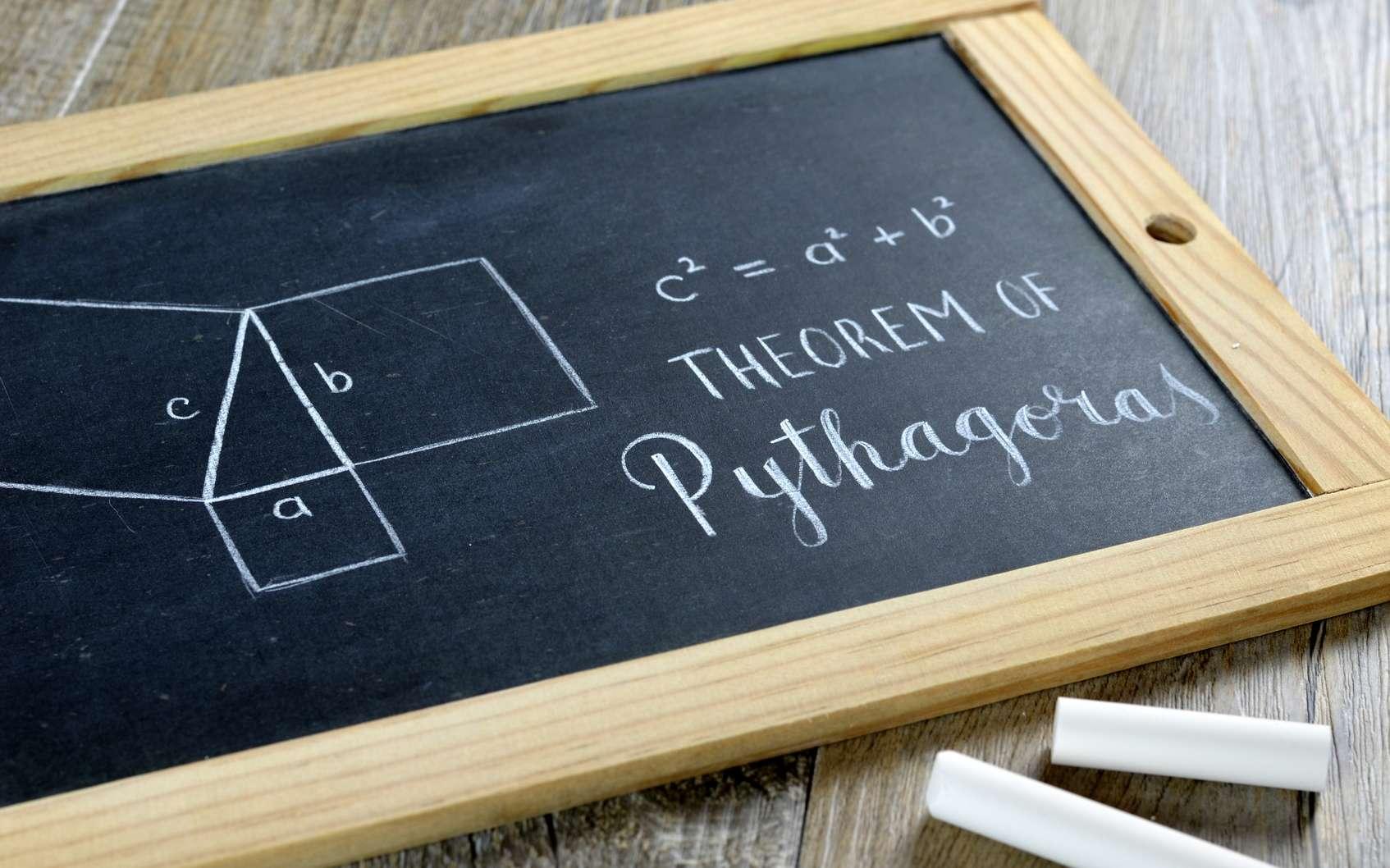 Le théorème de Pythagore est un incontournable des mathématiques. © treenabeena, Fotolia