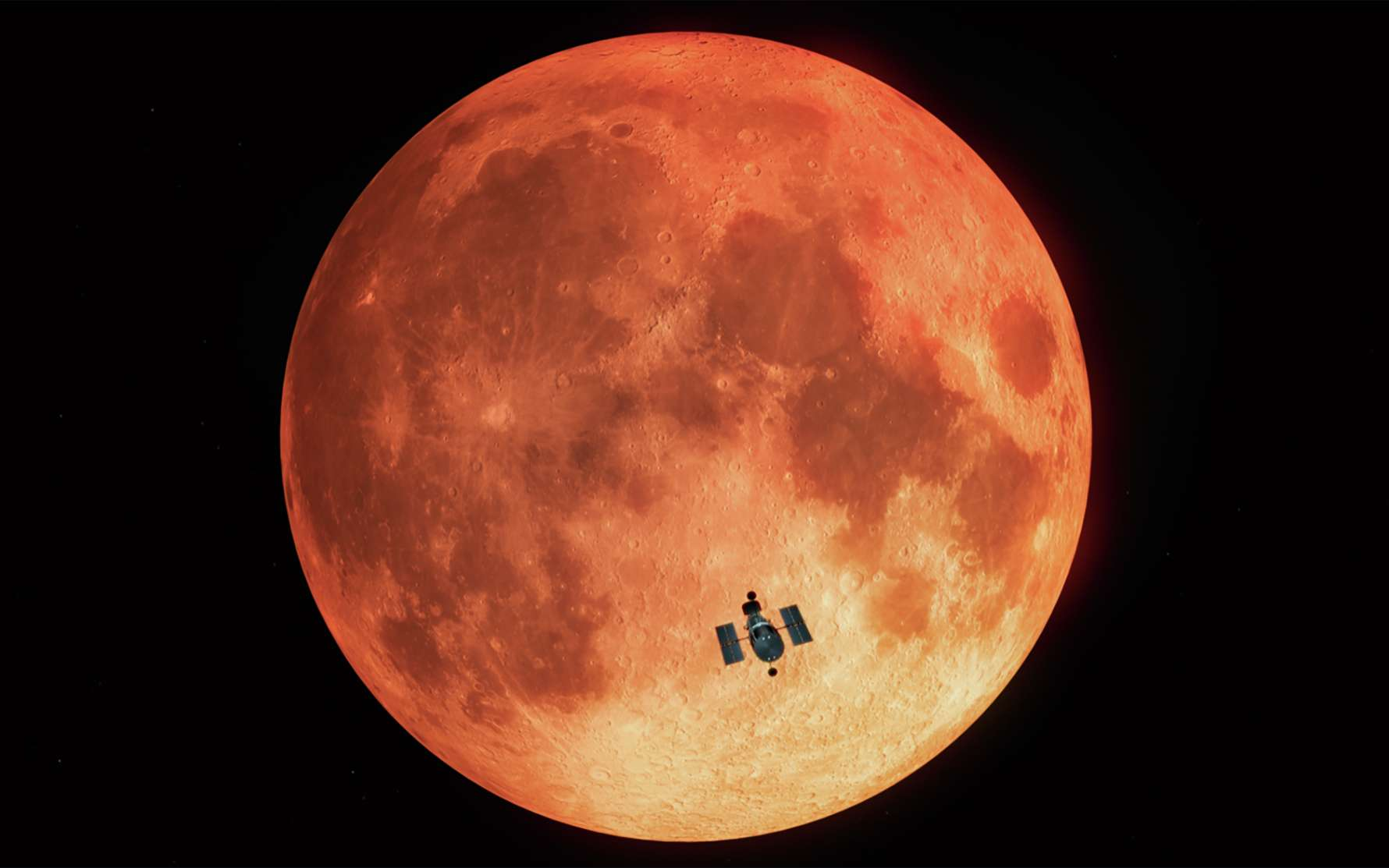 En janvier 2019, Hubble a profité d'une éclipse lunaire totale pour tester une technique d'observation qui aidera à chercher des biosignatures sur des exoplanètes semblables à la Terre. © M. Kornmesser, Nasa, ESA