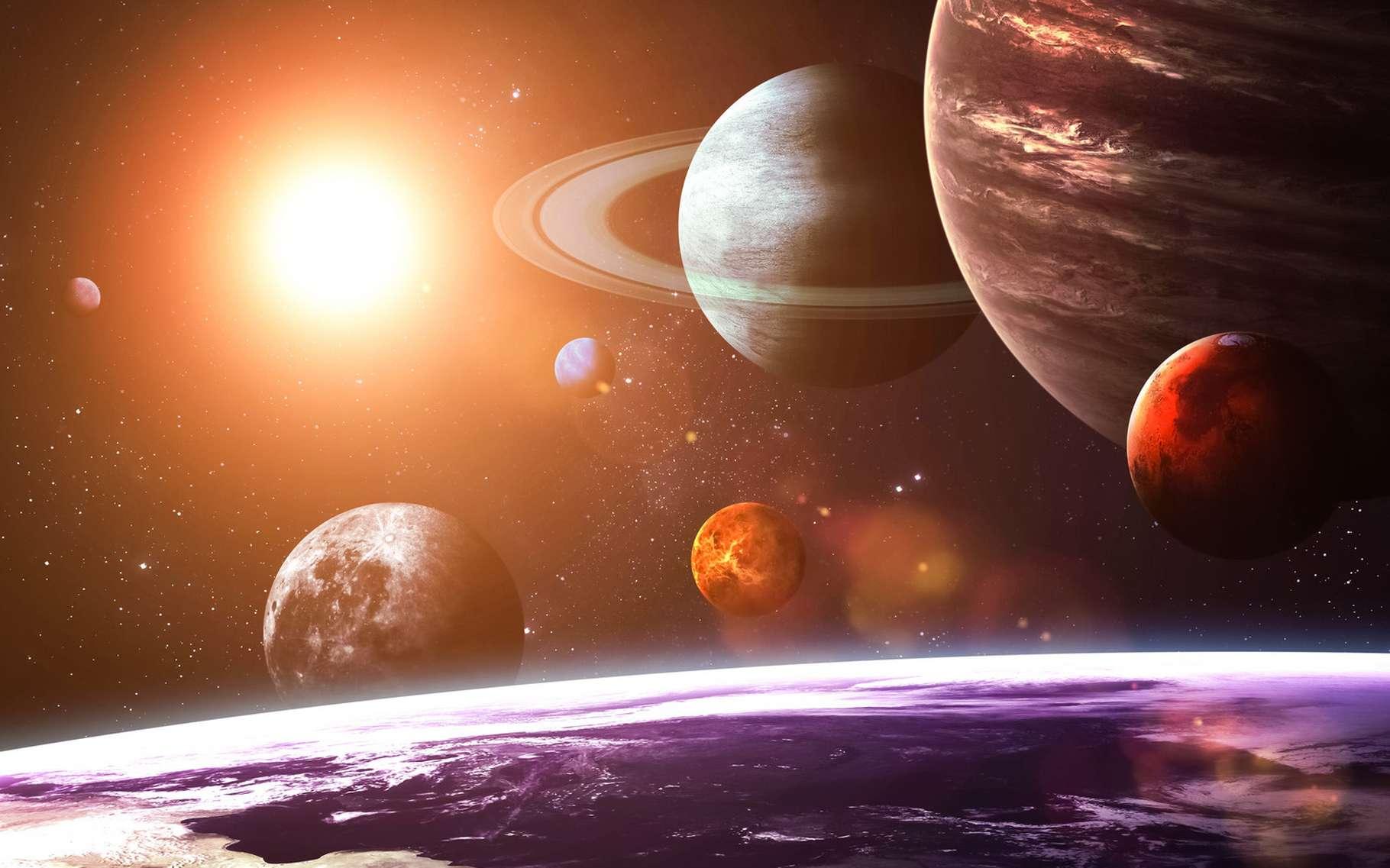 La limite du Système solaire peut être définie selon deux repères distincts : l'héliopause et l'aire d'influence gravitationnelle du Soleil. © Vadim Sadovski, Shutterstock