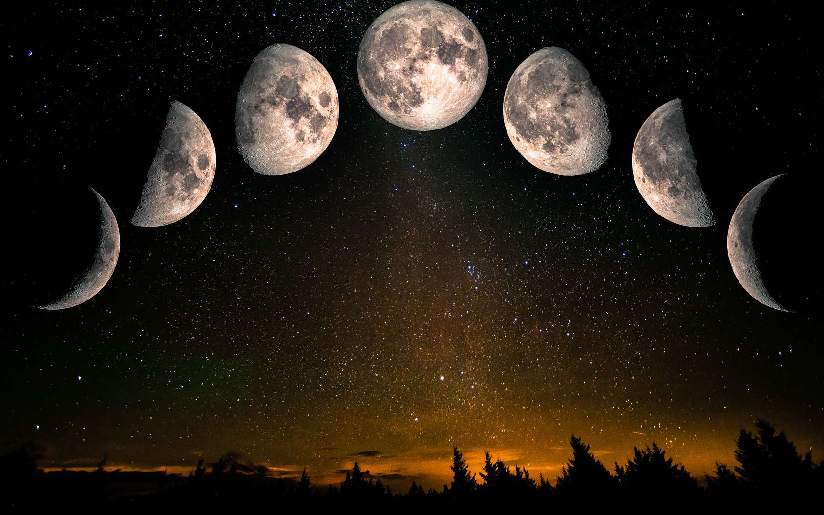 Nouvelle Lune, premier croissant… Comment se repérer dans le calendrier lunaire ? © elen31, Fotolia