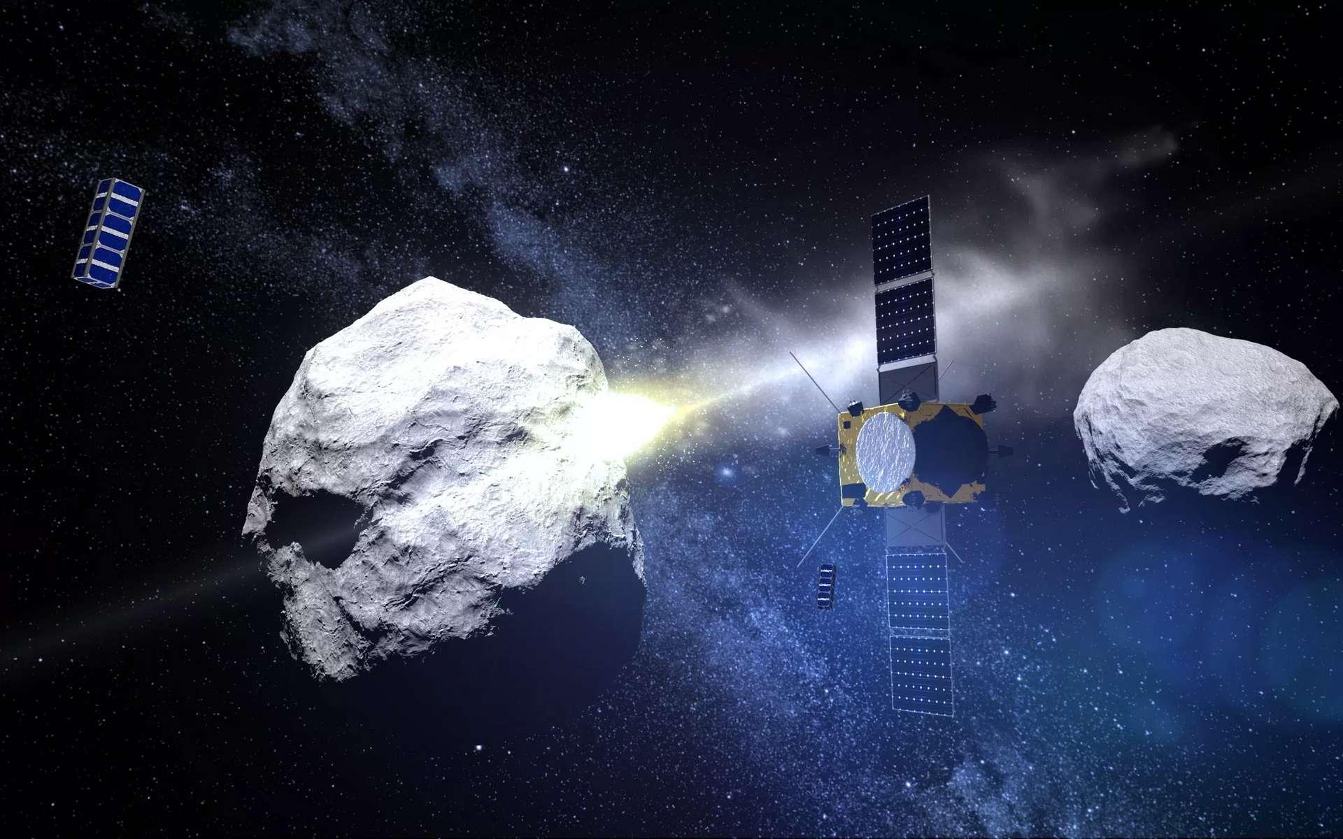 Une vue d'artiste de la mission AIM de l'ESA. © ESA