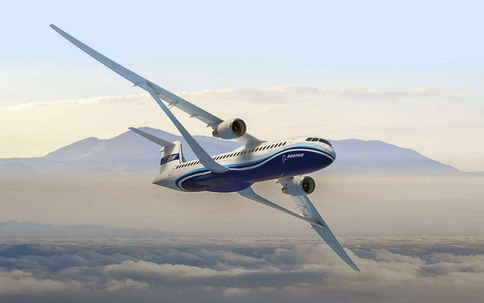 L'aile TTBW de Boeing fait partie d'un programme ambitieux mené par l'avionneur et la Nasa. Son objectif est de réduire la consommation d'énergie ainsi le bruit aérodynamique au minimum. © Boeing