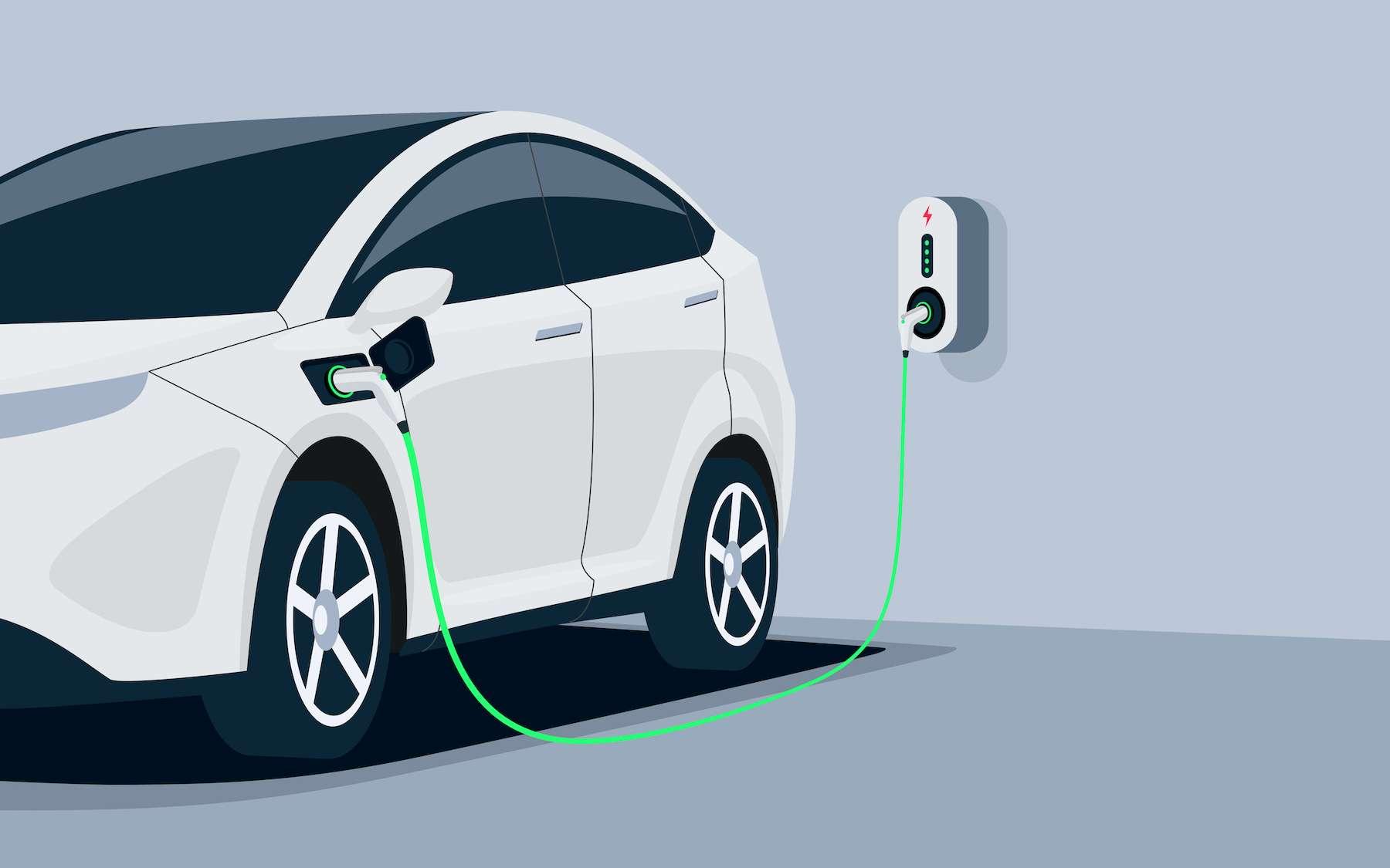 Installer une borne de recharge électrique chez soi. © petovarga, Adobe Stock