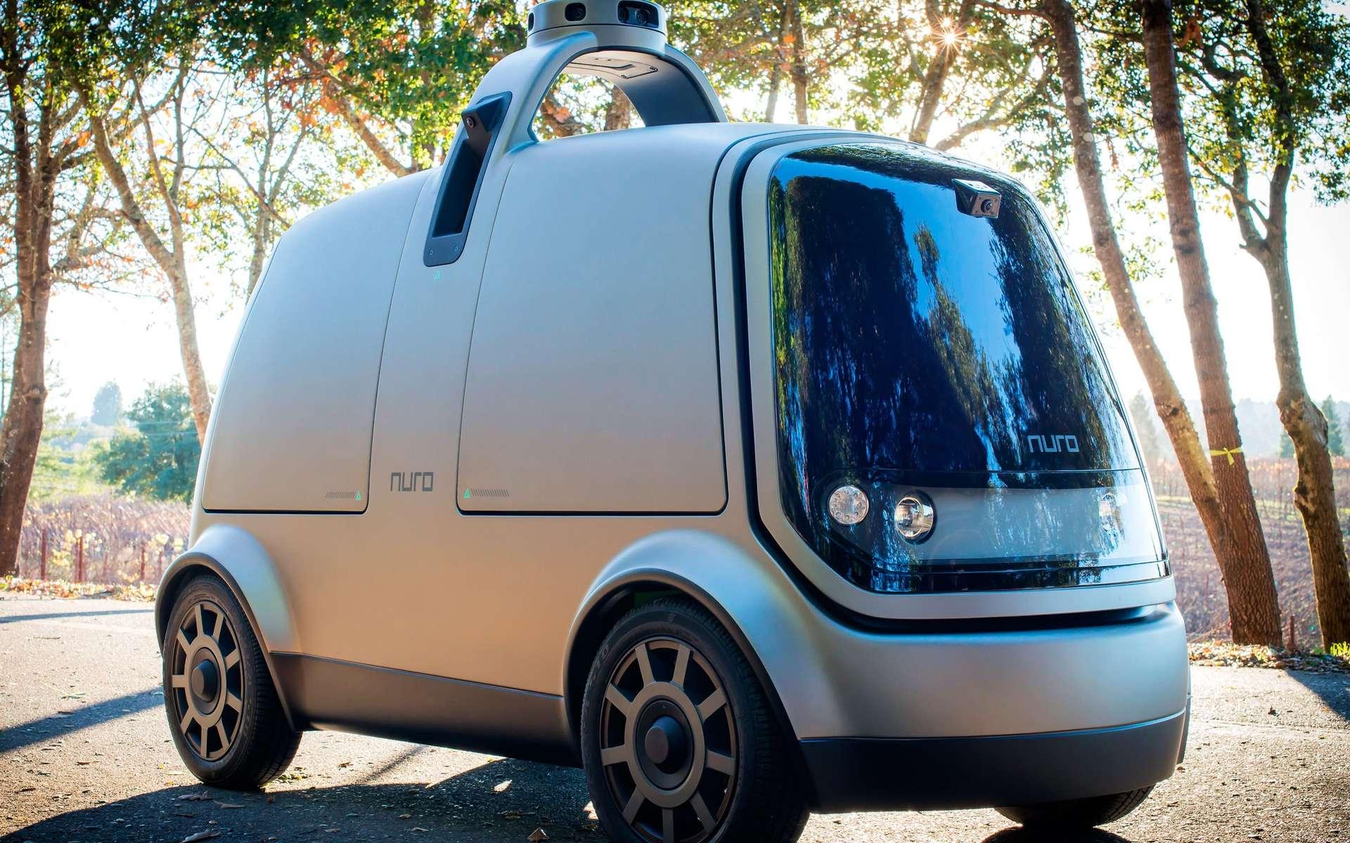 Nuro, la camionnette autonome qui fait les courses pour vous, est équipée d'un intérieur aménageable selon les besoins des marchands. © Nuro