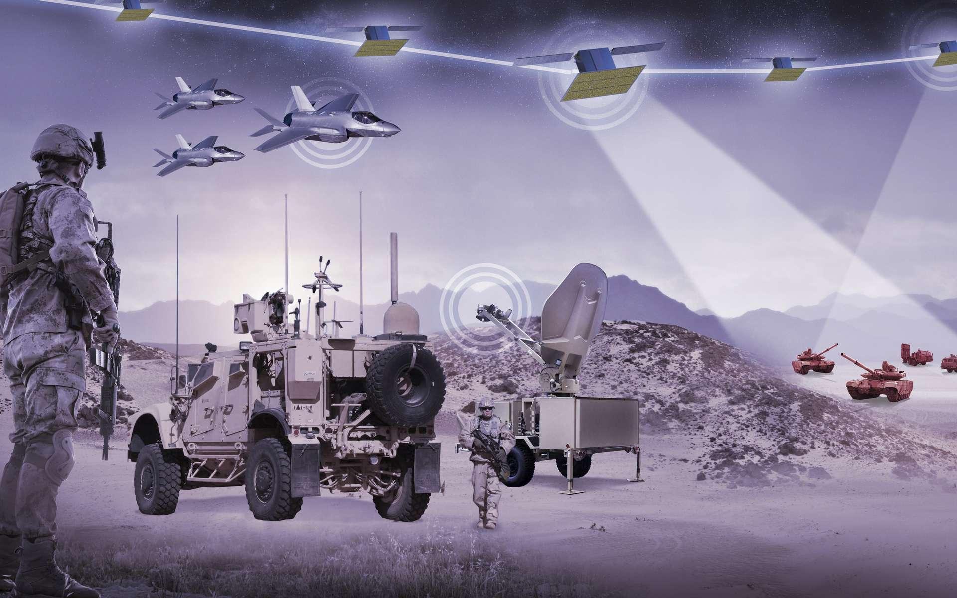 Pour obtenir une vision en temps réel des mouvements des ennemis et accélérer les combats, les satellites deviennent l'atout majeur des militaires. © Lokheed Martin