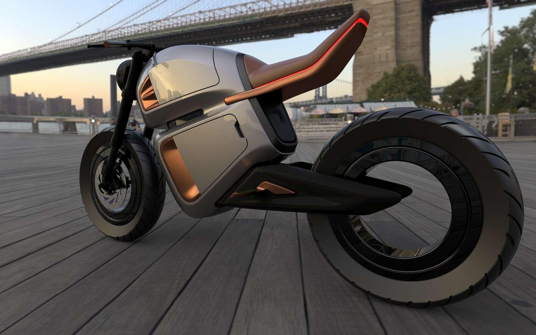 Le design de la Nawa Racer est inspiré des motos café racer. © Nawa Technologies