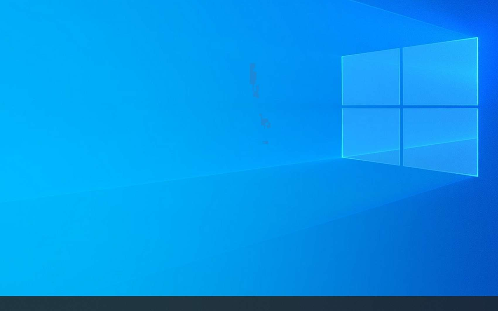 Voici ce qui s'affiche dès que la machine Windows a terminé de charger le système d'exploitation. © Microsoft