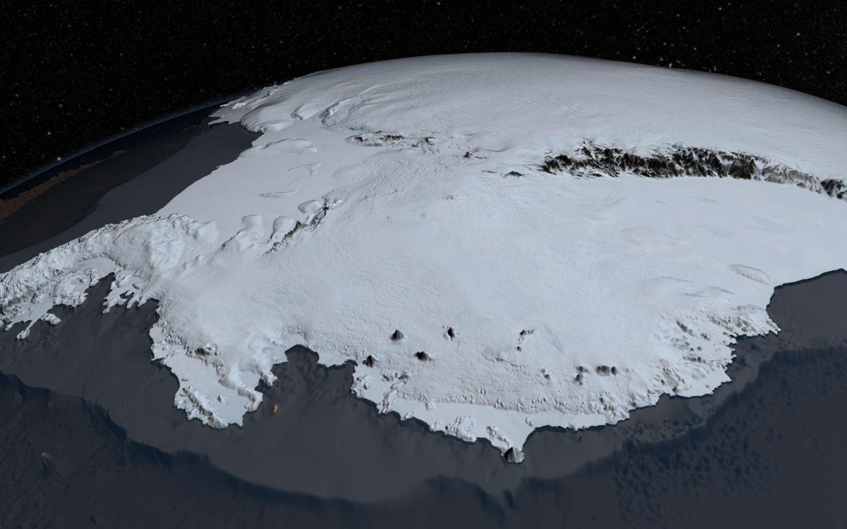 Voici le plus grand désert du monde : l'Antarctique. Bien qu'il soit recouvert de glace, c'est un des endroits les plus secs au monde. © Nasa, Goddard Space Flight Center