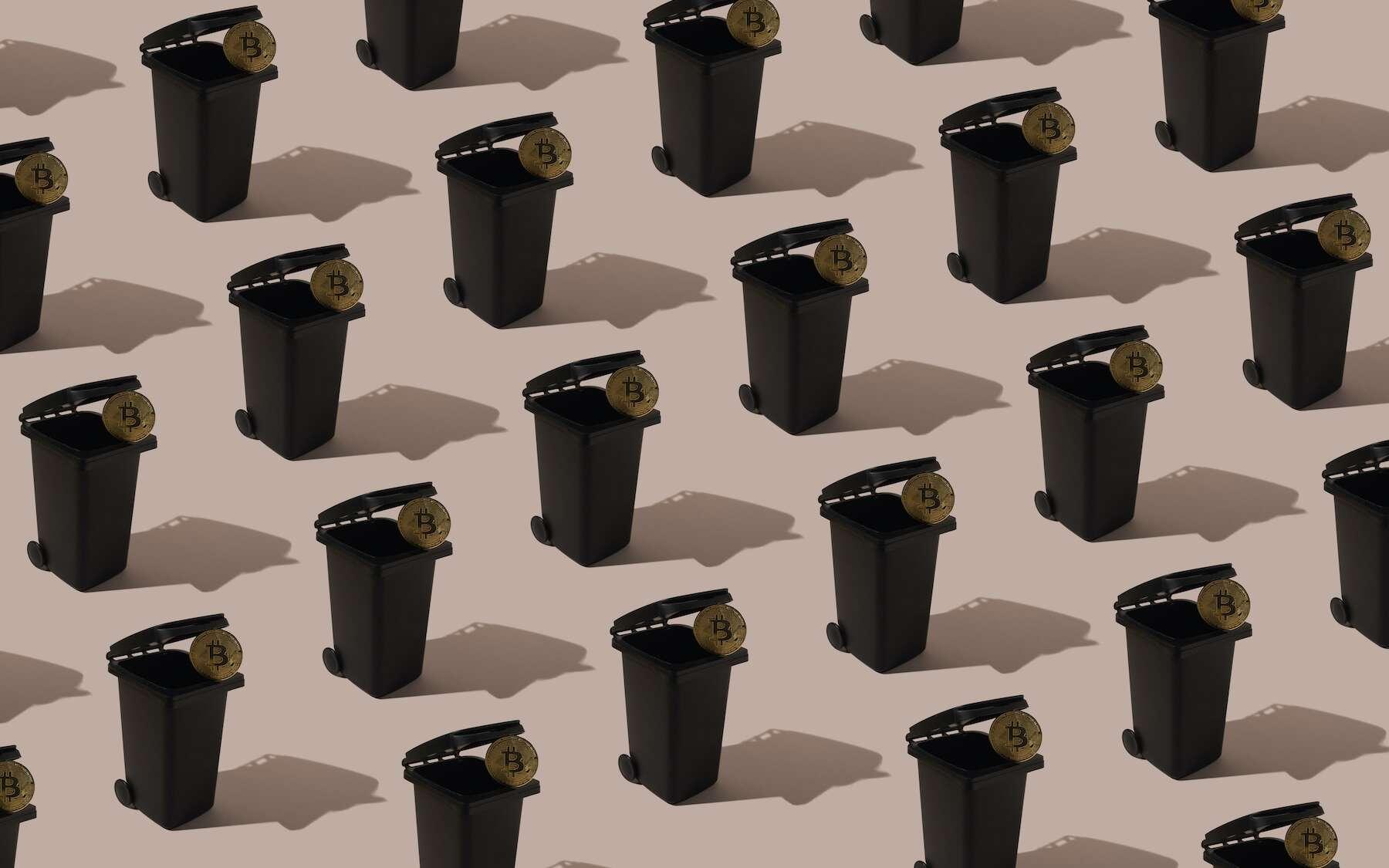 Le minage de bitcoin aboutit à un gigantesque gaspillage de matériel informatique. © Zoran, Adobe Stock