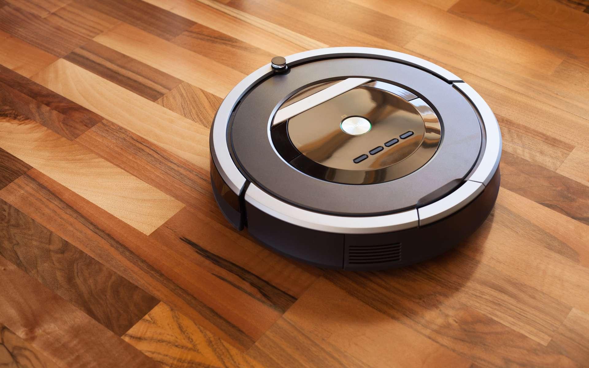 Le robot aspirateur démontre ses performances. © dusk, Adobe Stock