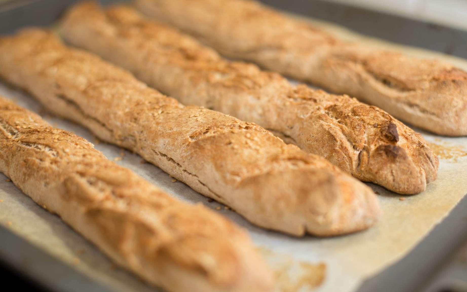 C'est une réaction chimique assez complexe qui est à l'origine de la couleur dorée du pain. © Nicola, Flickr, CC by 2.0
