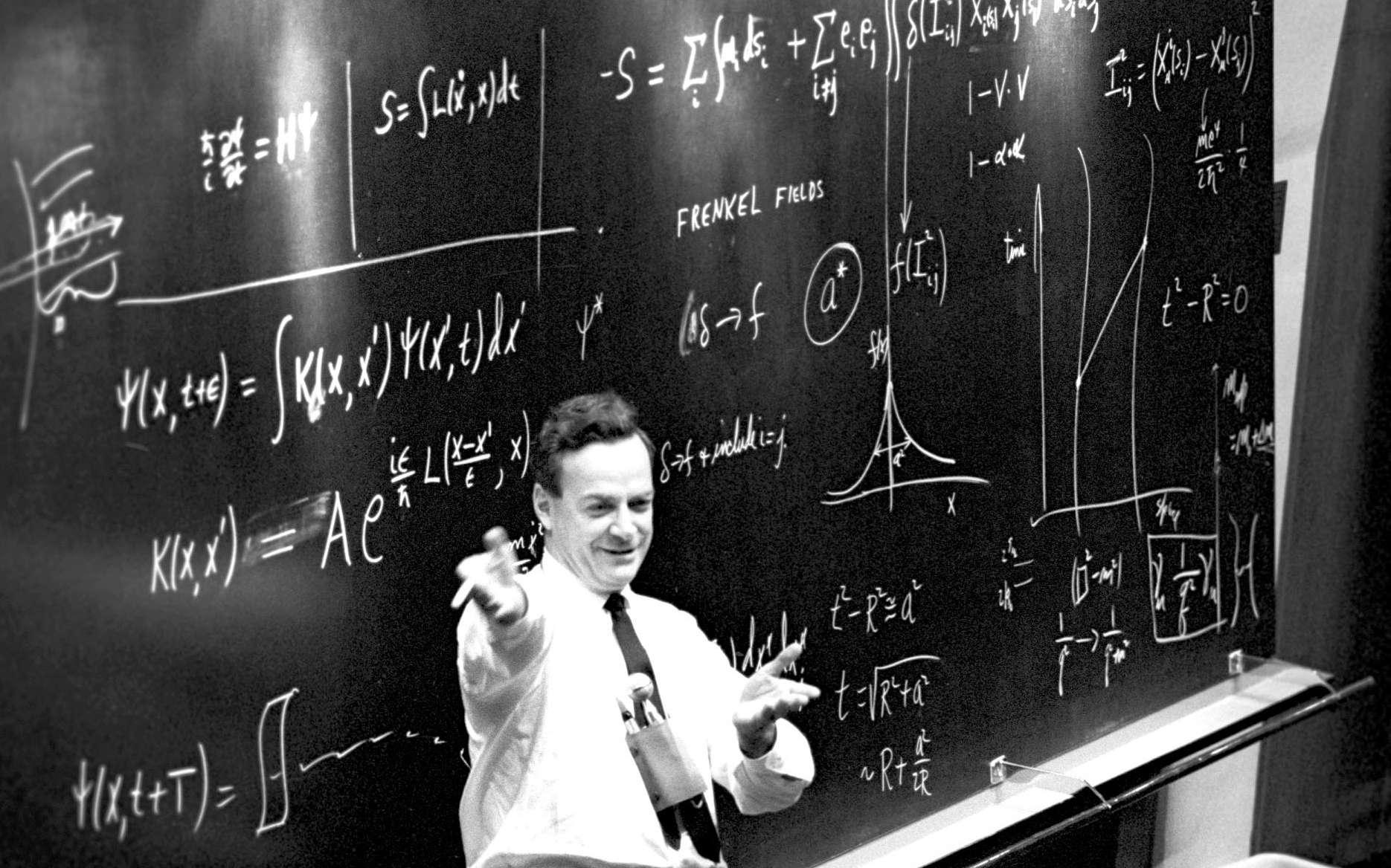 Richard Feynman en visite au Cern en 1965. © Cern