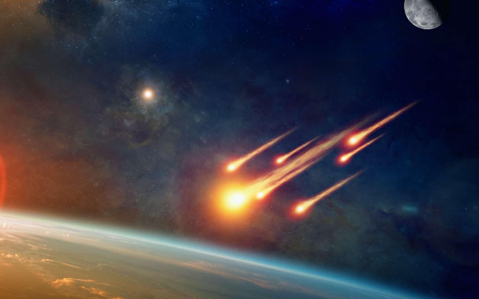 Les météorites sont assez fréquentes. Mais certaines sortent du lot par leur brillance. Et par leur origine. Comme celles présentées ici en illustration. Ou celle qui s'est illuminée dans le ciel de l'Australie en août 2016. © IgorZh, Adobe Stock