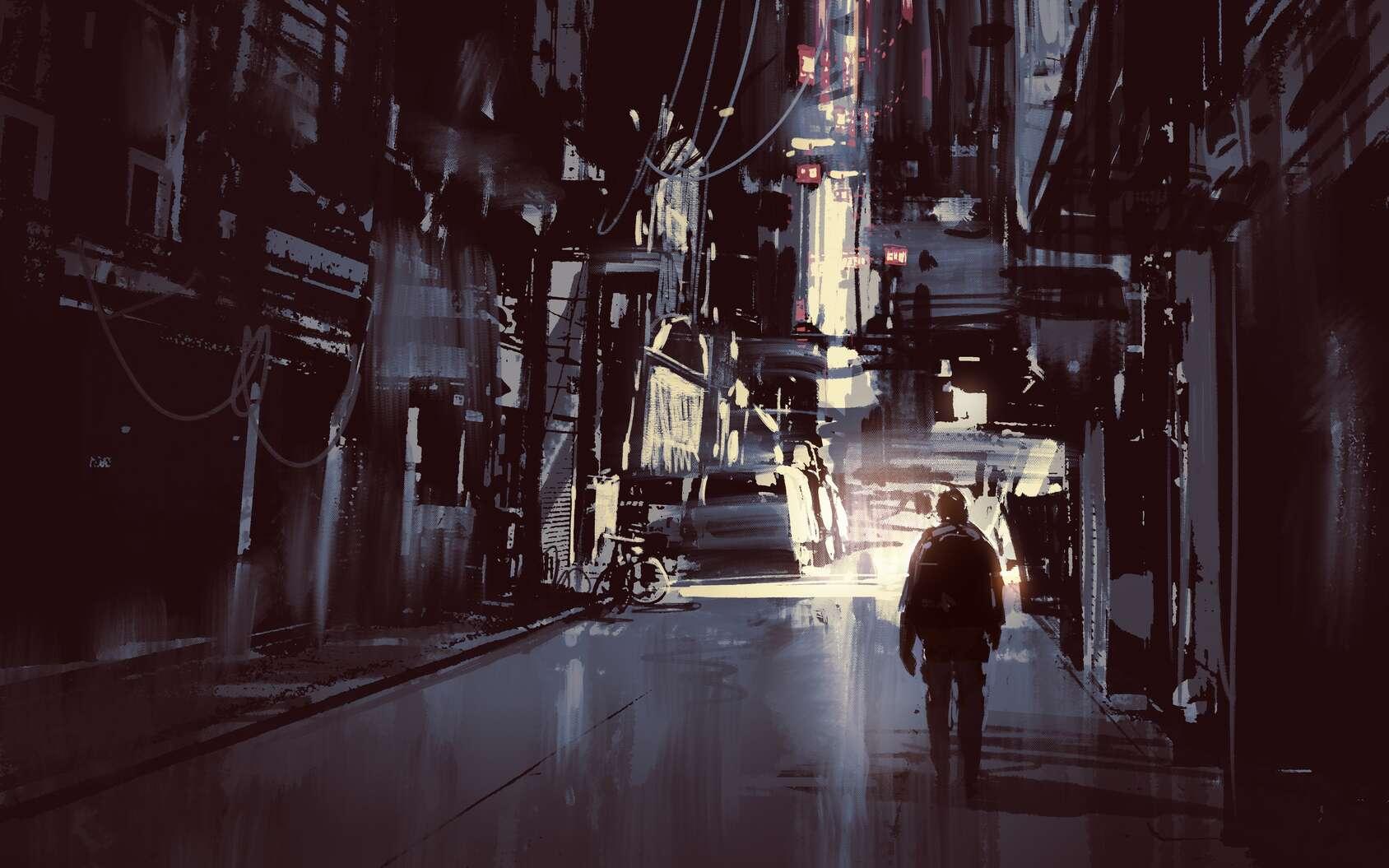 Errant dans le dédale d'acier qu'est New York, n'ayant jamais vu la couleur du ciel, Baley cherche le meurtrier du Docteur Sarton. © grandfailure, Fotolia