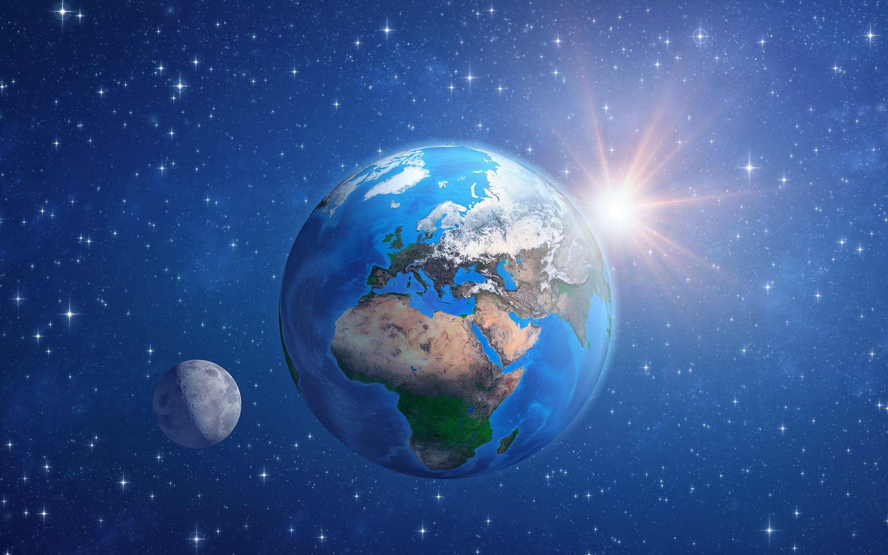 Le problème des trois corps est sans doute la plus ancienne question ouverte en astrophysique. Il a résisté à une solution analytique générale pendant des siècles. Aujourd'hui, des chercheurs en proposent une solution statistique. © mozZz, Adobe Stock